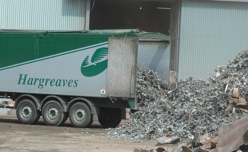3 Waste being extruded from a Hargreaves Volvo