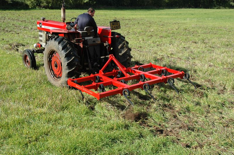 3 MF 1100 with MF 10ft pigtail cultivator