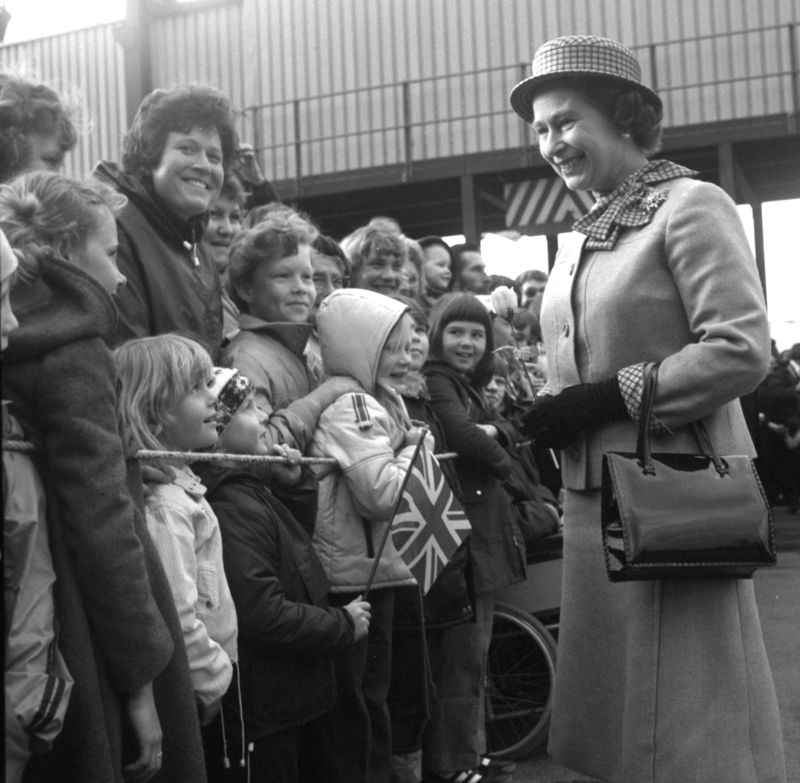 HM the Queen's visit to Harwich 1981
