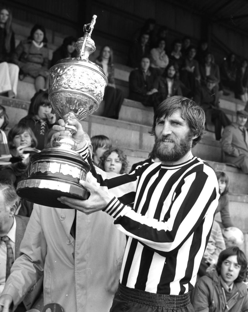 Steve Page with the Harwich Charity Football cup, 1973