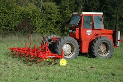 4 MF 1200 with MF 39 3-leaf spring cultivator, driver Russell Diggle