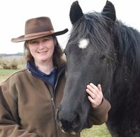 Heidi M Sands and her homebred mare Hunthill Rainbows End30001