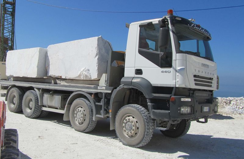 Iveco Trakker 440 loaded with marble