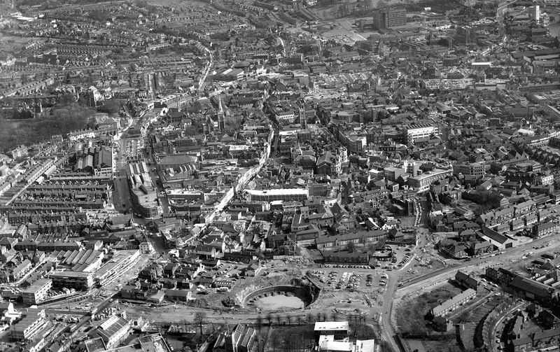 Ipswich from the air 1965