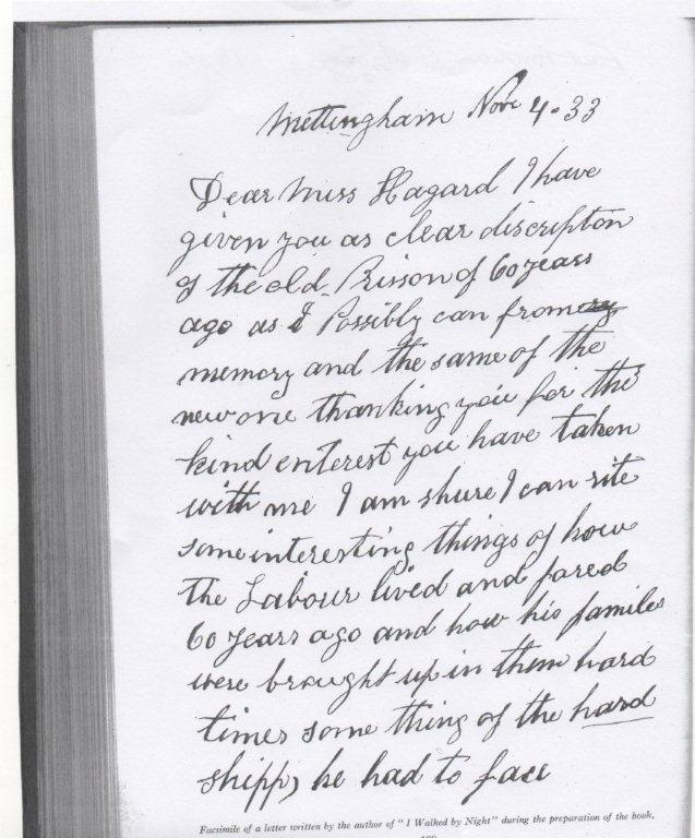Frederick Rolfe's letter to Lilias Rider Haggard