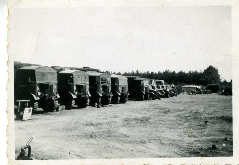 HAC vehicles, Nieuwport August 1945