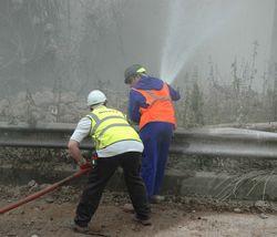 Dust control at the Kidderminster sugar beet silo demolition