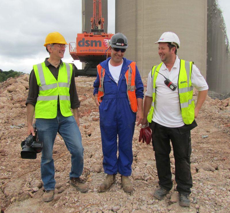 Film-maker Jonathan Theobald with DSM staff