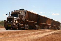 Five-trailer road train, Queensland