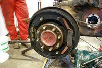 Layout of brake parts