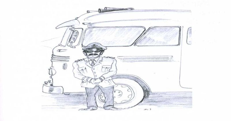 A 'kamikaze' coach driver by Brian Wales