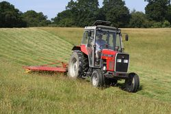 MASSEY FERGUSON 390 AND WESTMAC MOWER