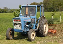 Ford 3000 power-harrowing
