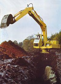 Hymac 580C excavating