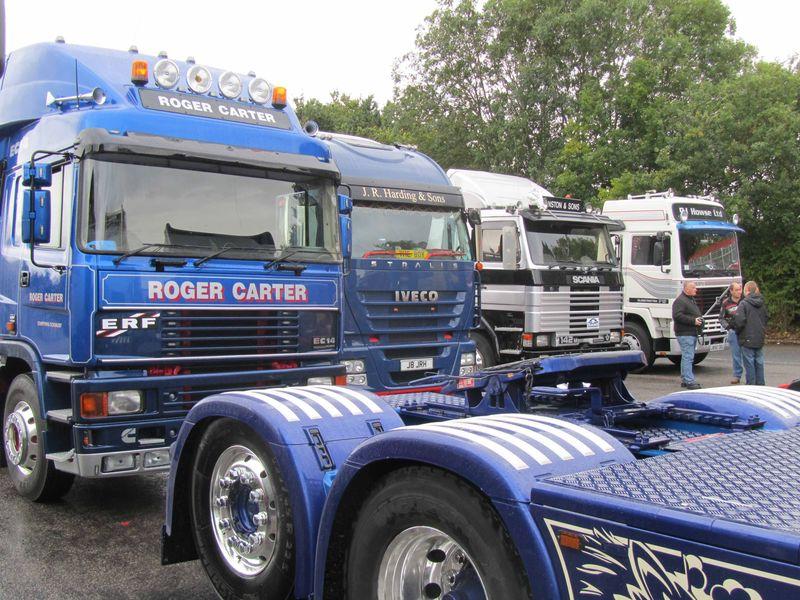 Trucks waiting to go