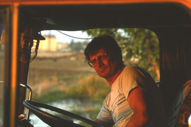 Graham Davies in cab