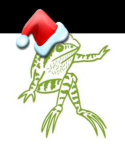 OPP Christmas Frog